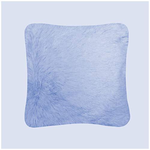 Gaveno Cavailia Pack of 4 Hug and Snug Cushion Cover, Super Soft Fluffy Easy Care Decorative Design, Cosy Warm Unfilled Pillow Case, 18x18 Inch / 45x45 cm, Denim Blue