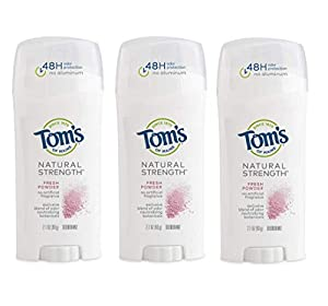 48-HOUR PROTECTION: Contains 3 - 2.1-ounce sticks of Tom's of Maine Natural Strength Deodorant in Fresh Powder scent. Experience the new natural deodorant formula that offers 48-hours of protection INNOVATIVE FORMULA: Toms deodorant for women feature...
