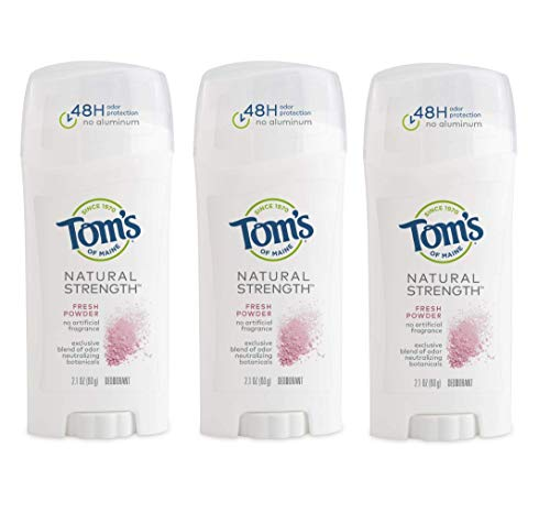 Tom's of Maine Natural Strength Deodorant, Natural Deodorant, 48-Hour Odor Protection, Fresh Powder, 3 Pack