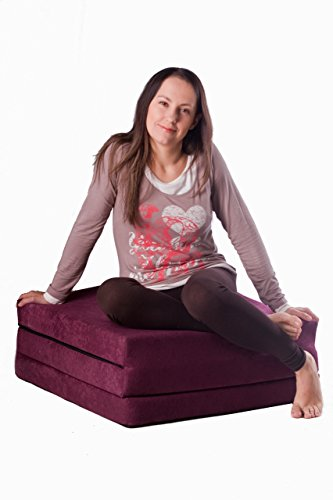 Natalia Spzoo® Matelas lit futon pliable pliant 195 x 65 x 10 cm choix de designs multicolore (Press)