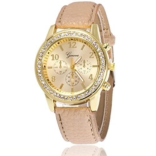 YLXAJKJGS-XCH ZLF0346 Elegante Reloj de Pulsera de Cuarzo con Correa de Cuero para Hombre y Mujer