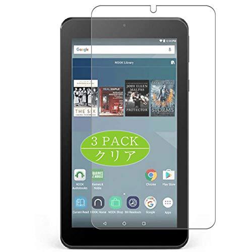 VacFun 3 Pezzi Pellicola Protettiva, Compatibile con Barnes & Noble Nook Tablet 7 7inch (Non Vetro Temperato) Protezioni Schermo Cover Custodia