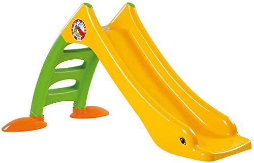 Dohany 2in1 Kinderrutsche Wasserrutsche freistehend Rutschbahn Rutschlänge 120 cm (gelb/grün)