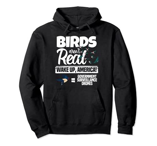 Gli uccelli non sono veri droni cospirazione teorici carino spie Felpa con Cappuccio
