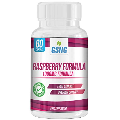 Raspberry Formula Capsules – 1000mg Pure Raspberry Ketones Extract Lean Weight Loss Diet Pills – Breaks Down Fat and Boosts Metabolism – 60 Vegetarian Capsules – UK Premium Manufacture – GSNG