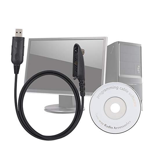 Sharainn Cable de programación USB, Walkie Talkie PRO5150 Cable de programación USB con Controlador de CD de Software para Motorola HT1250 PRO5150 GP328 GP340 MTX450