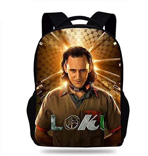 Loki Mochila Loki Libros Bolsa 3D Comic Super Héroe, unisex, impermeable, ligera, para fans Loki., Loki Mochila-a, Large