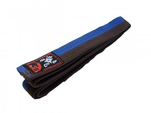 Budogürtel blau-braun halb-halb-gestreift (350)