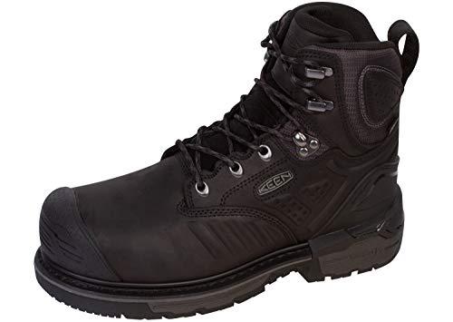 KEEN Utility Philadelphia 6 pulgadas impermeable compuesto de seguridad antideslizante botas de trabajo, Negro (Negro/Gris (Black/Steel Grey)), 39 EU