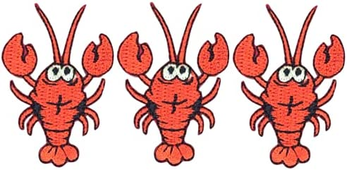 Red Lobster Applique Patch - Badge Free shipping anywhere in the ...