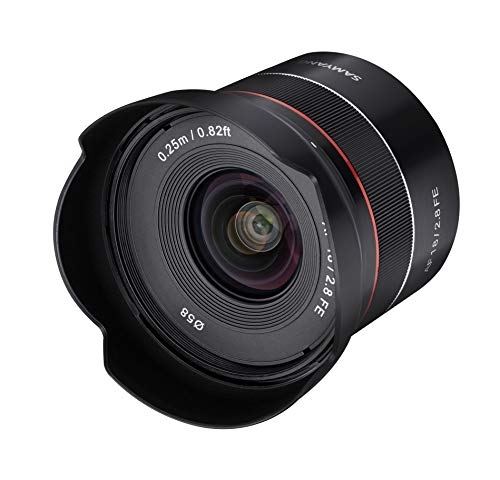 Samyang SYIO18AF-E AF 18mm F2.8 Wide Angle auto Focus Full Frame Lens for Sony E Mount, Black