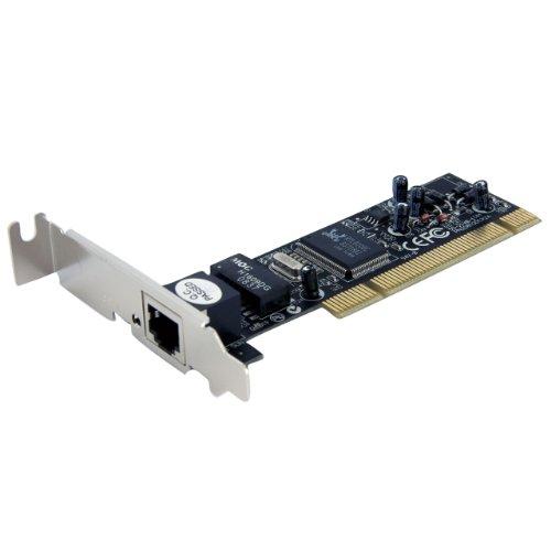 StarTech ST100SLP Adaptador Tarjeta de Red Nic PCI de Perfil Bajo de 1 Puerto Fast Ethernet 10/100Mbps RJ45