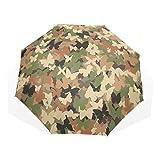 XiangHeFu Parapluie Camouflage Motif Papillons 3 Plis léger Anti-UV