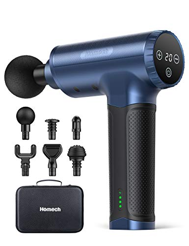 Homech 2600mAh 17V Handheld Massage Gun w/ 6 Massage Heads $49.99