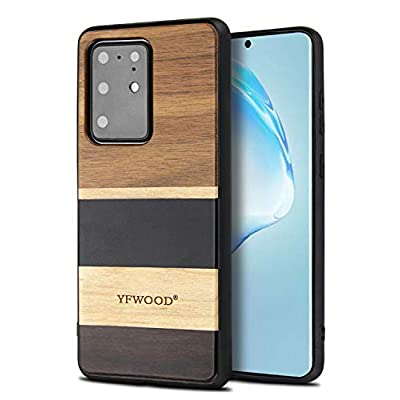 Amazon - Save 50%: Case for Samsung Galaxy S20 Ultra-Slim Wood Cases 6.9 inch Compatible with…