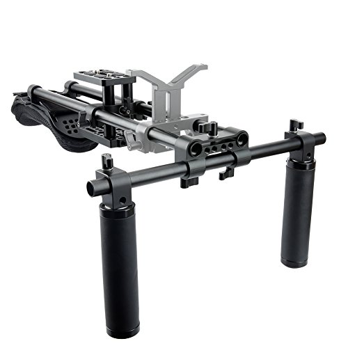 NICEYRIG Shoulder Rig Unterstützung Film Maker System mit Kamera/Camcorder Gr&platte Mount Slider Kit
