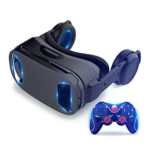 Gffeijc VR Gafas Movil, 3D Auriculares de Realidad Virtual Headset VR Glasses para 3D Películas Juego para iPhone 12 11 Pro MAX Mini X R S 8 7 para Android Samsung 4.7-6.5'
