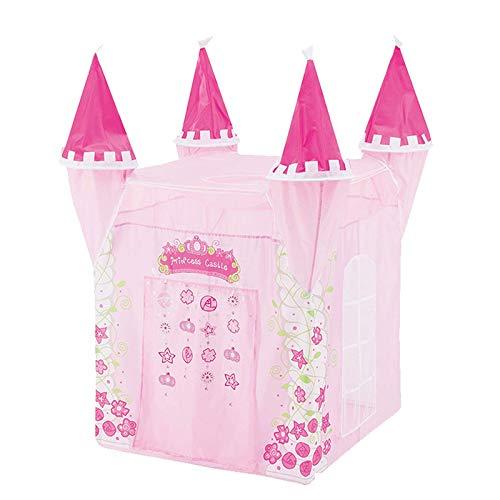 Niño juguetes tiendas de campaña princesa castillo jugar tienda chica princesa jugar house interior al aire libre niños hourses Playhouse Tienda tipi para niños ( Color : Pink , Size : 80×80×130 cm )