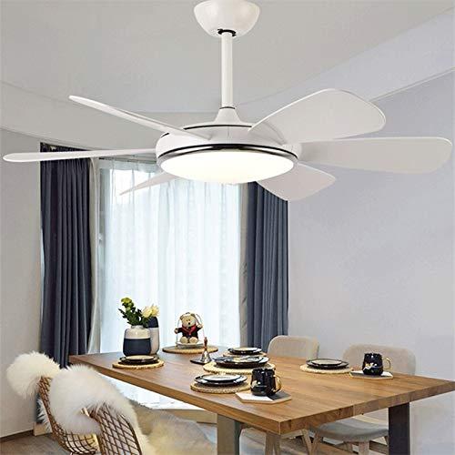 OUPPENG Lámpara de Ventilador Ventilador de techo de Hongcui Luz LED con control remoto 3 Colores 220V 110V MODERNO Decorativo para habitaciones Habitación Dormitorio (Blade Color : Style A)