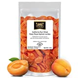 Traina Home Grown California Sun Dried Jumbo Ruby Royal Apricot - No Sugar Added, Non GMO, Gluten Free, Kosher Certified, Vegan, Packed in Resealable Pouch (2 lbs)
