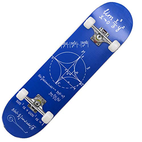 DEAR-JY Skateboard,Stunt Skateboard für Anfänger,8-lagiges Maple Double Kick Deck Cruiser Skateboard,Fashion Dance Board Allrad Professionelles Allround-Roadboard Street Skateboard,D