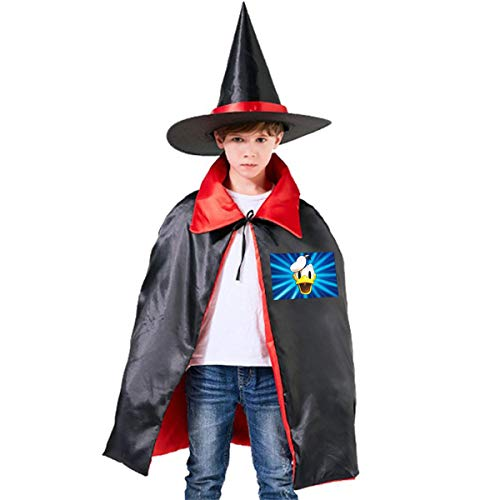 NUJSHF Donald Duck Unisex Kinder Kapuzenumhang Umhang Cape Halloween Party Dekoration Rolle Cosplay Kostüme Outwear