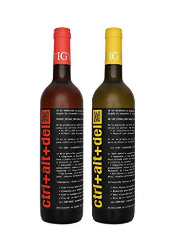 Ctrl+Alt+Del Blanco semi-dulce + Rosado semi-dulce - Vino joven de la Tierra de Castilla - 2 botellas 75 cl