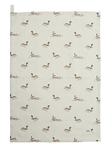 Sophie Allport Cotton Tea Towel - Hare Design by Sophie Allport
