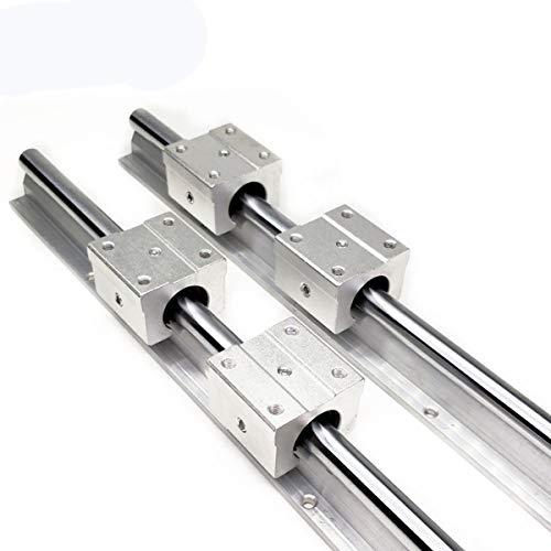 SXCXYG LinearfüHrung 2 stücke lineare schienenleitung + 4 stücke linearlager Block linear schiene Set Linearführungen (Guide Length : 400mm)