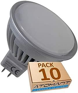 Led Atomant Pack 10x MR16 LED 12V 7W, Blanco neutro 4500K. 120 grados, 680 lumenes reales certificados. BI PIN, 7 W, 50mm, 10