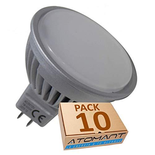 Pack 10x MR16 a 12V. 7w. Color Blanco Calido (3000K). (Transformador 12v NO incluido).
