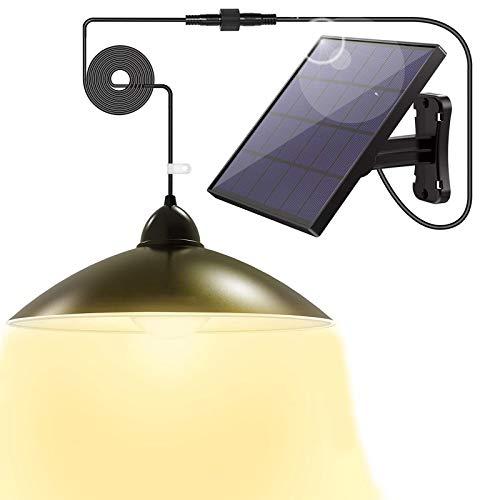 Solarlampen für Außen, LOZAYI Solar Hängelampe mit Zwei Modi,Drei helle Farben,Fernbedienung,5m Kabel,180 ° Einstellbares Solarpanel,IP65 Wasserdichte, für Garten,Camping,Haus Dekoration