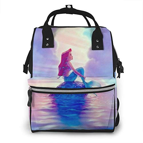 Bolsa de pañales-hermosa sirena mami, multifunción gran capacidad viaje mochila pañal bolsa