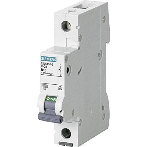 Siemens 5sl6110-6 miniatuur stroomonderbreker 6 KA 1 pole b-10 a