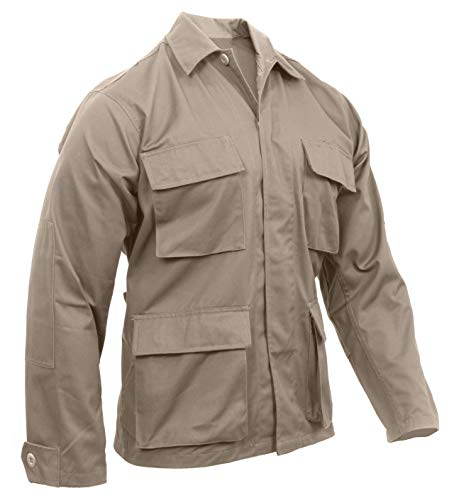 Rothco Solid BDU (Battle Dress Uniform) Military Shirts, Khaki, L