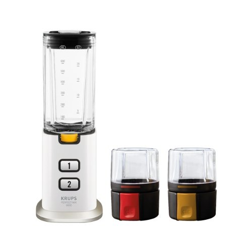 Krups KB3031 Perfect Mix 9000 blender, glas, zwart, roestvrij staal, transparant, wit