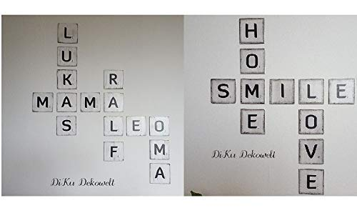 Scrabble Buchstaben.3 Größen.12 Farben.4 Schriften.Wand.Shabby Handgemacht