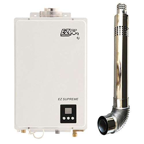 EZ Supreme Tankless Water Heater - 6.4 GPM - Natural Gas (NG) - Indoor Whole Home - Digital Display - Direct Vent Exhaust Included