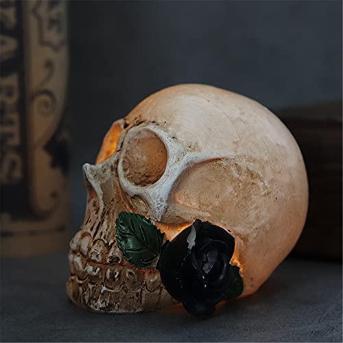 NAXIAOTIAO Halloween-Skeleton-Licht, Beleuchtet Skeleton-Dekor Halloween-Schädel-Statue-Lampe Nachtlicht Urlaub Dekoration Lampe 3 Stück,C