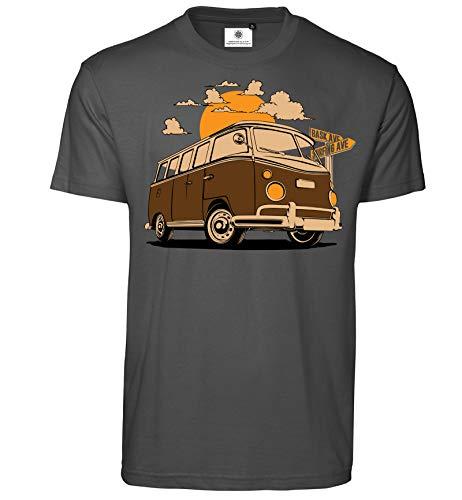 Customized by S.O.S Herren T-Shirt Bus Spring (L, Koks)