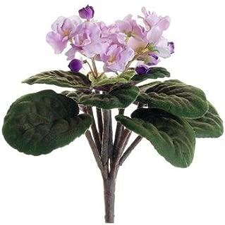 Silk Flowers African Violet Bush in Lavender Purple - 10.5