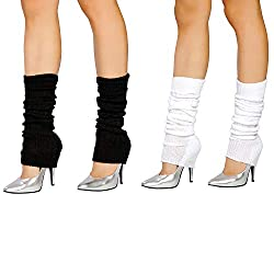 Size: Length: 39cm/ 15.35inch,sleeve width:10cm/3.93inch Easy to layer over tights or leggings, Stretchy material and ribbed cuff keeps leg warmers in place. Ladies and Girls Fashion Leg Warmer, Great for 80's Party/Costume Play/Yoga Sport/Fitness / ...