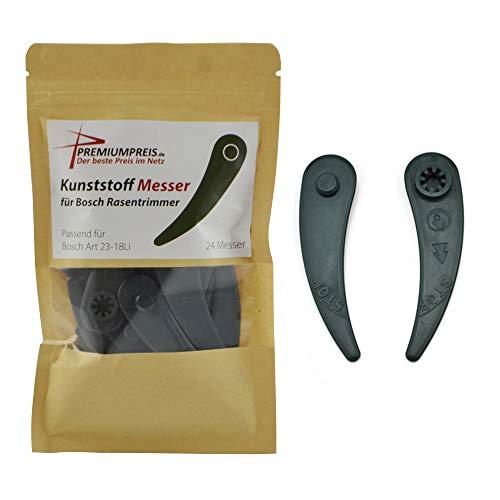 24 Ersatzmesser Plastik Kunststoff Messer Klingen für Bosch Durablade Trimmer Art 23-18 LI Art 26-18 LI Premiumpreis®