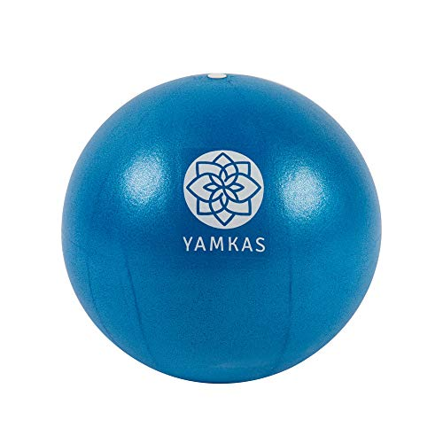 Yamkas Pilates Ball 22cm • Gymnastikball Klein fur Stabilitat - Core Training und Fhysio • Yoga Exercise Balance Balle fur Fitness, Gymnastik (Blue, 22 cm)