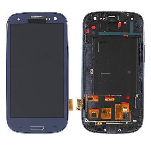 Movilstore LCD-Display + Touchscreen + Rahmen kompatibel mit Samsung Galaxy S3 I9300 (TFT) Blau