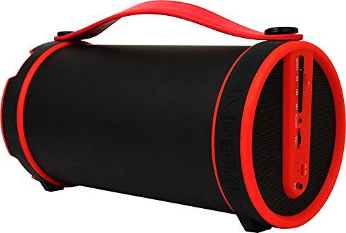 Imperial BEATSMAN Mobiler Bluetooth Lautsprecher mit UKW Radio (2.1 Lautsprecher, Bluetooth 2.1, UKW Radio, MicroSD Kartenleser) rot