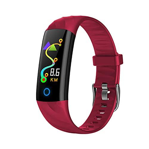 KMF S5 Sports Impermeable Smart Watch Lady Smart Pulsera con Monitor de Ritmo cardíaco Bluetooth Monitor Fitness Tracker SmartWatch Metal Funda,B
