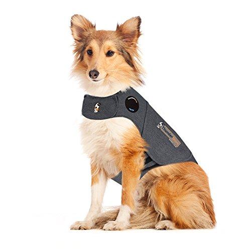 Thundershirt Beruhigungsweste, Hundemantel für ängstliche Hunde, Größe L, grau, 99004