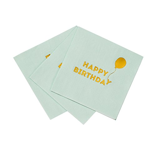 Talking Tables We Heart Birthdays Cocktail-Papierservietten, 25 cm (16 Stück)