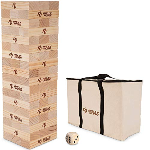 Rally and Roar Toppling Tower Giant Tumbling Timbers Game 2.5 feet Tall...